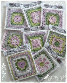 pretty Spring-colored Granny squares