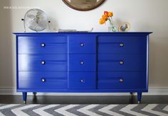 How I Paint -- recs for paint strippers, paint brands, stain and sealers, plus tips and tricks -- Phoenix Restoration Redo Furniture, Blue Dresser, Furniture Diy, Painting Furniture Diy, Furniture, Furniture Inspiration, Diy Dresser, Cool Furniture, Diy Dresser Makeover