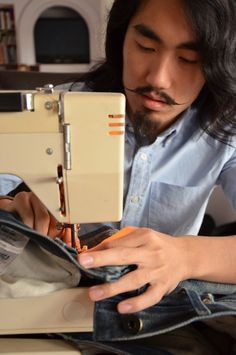 How To - A Simple Guide to DIY Denim Repairs  I just like this guys look