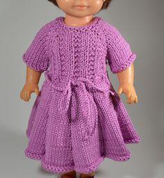 Puppenkleid  gestrickt für 30 cm Puppe von MonikasPuppenmode auf DaWanda.com