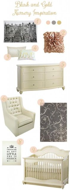 Okay I'm not having a baby for a long time, but gosh this was too cute not to pin and remember...blush pink and gold nursery inspiration for a baby girl...