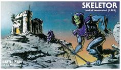 Released with the first wave of characters in the original Masters of the Universe toy line, Skeletor would eventually become one of the most iconic and memorable villains of the 1980s.