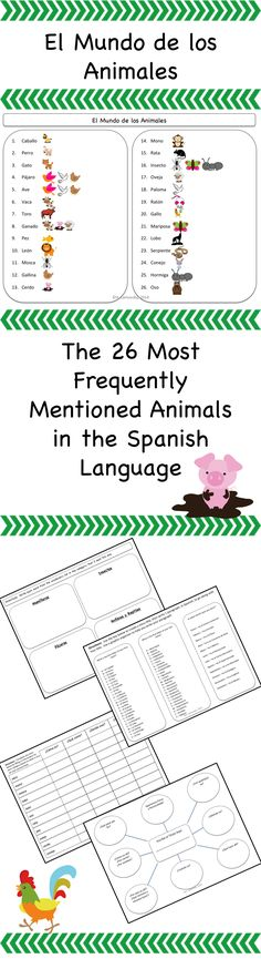 Spanish animals - 26 most commonly used in the Spanish language