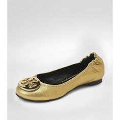 Distressed Leather Reva Ballet Flat - Tory Burch
