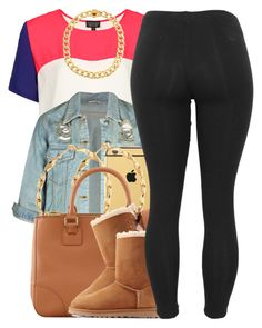 """nov. 27 2k14"" by xo-beauty ❤ liked on Polyvore featuring Topshop, Old Friend, Goldgenie, Kenneth Cole, Tory Burch and UGG Australia"