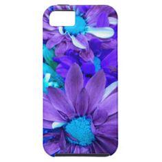 Purple N Turquoise Bouquet iPhone 5 Case #zazzle