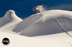 Snowboard Photo: Ride Snowboards' Marco Feichtner pops a method grab off a natural powder roller in the backcountry of Montafon, Austria. Photo by Vernon Deck. Vernon, Snowboarding, Austria, Playground, Deck, Darth Vader, Boots, Winter, Nature