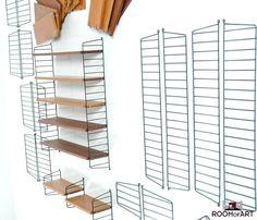 Taek & Metal shelf system by Nisse Strinning 1960