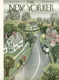 Vintage Illustration Premium Giclee Print: The New Yorker Cover - May 3 Art Print by Edna Eicke : - The New Yorker, New Yorker Covers, Old Magazines, Vintage Magazines, Capas New Yorker, Magazine Art, Magazine Covers, Arte Pop, Illustrations