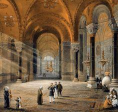 Hagia Sophia-Ayasofya Middle Eastern Art, Istanbul City, Islamic Paintings, Academic Art, Hagia Sophia, Arabic Art, Naive Art, Ottoman Empire, Islamic Art