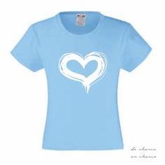 PIN10 for a 10% discount. Worldwide shipping.  Camiseta niña CORAZON de DECHARCOENCHARCO en Etsy