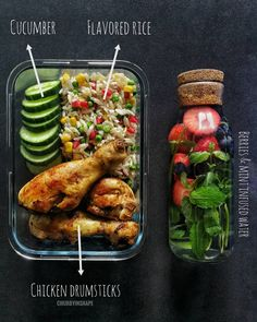 Anyone have meal prep goals for this weekend? Tag a friend that could use more meal prep recipe ideas like this! In my opinion this… Healthy Food Delivery, Healthy Meal Prep, Healthy Snacks, Healthy Eating, Healthy Recipes, Free Recipes, Delivery Food, Healthy Drinks, Lunch Recipes