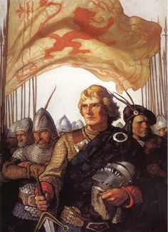 Scottish Chiefs by N. C. Wyeth. Absolutely love this one!