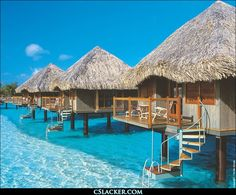 Bora Bora Village on the water