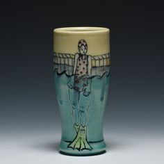 Crimson Laurel Gallery's cup show, Source Material: Chandra DeBuse Thunder Thighs Tumbler