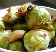 "Roasted Brussels Sprouts: ""These are simply delicious! I was in a hurry, so I cut the sprouts in half and they were perfectly done in about 15 minutes."" -MsPia"