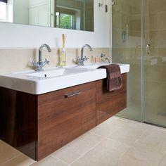 Modern bathroom with vanity unit | Bathroom decorating | 25 Beautiful Homes | Housetohome.co.uk