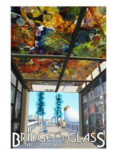 Tacoma, Washington - Bridge of Glass and Glass museum