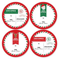 Santa's Special Delivery - Large Sticker Christmas Gift Tags - From Santa Stickers Gift Stickers - Set of 8 >>> New and awesome product awaits you, Read it now : Christmas Gifts Personalized Party Favors, Personalized Christmas Gifts, Christmas Gift Tags, Holiday Gifts, Santa Express, Big Dot Of Happiness, Special Delivery, Santa Gifts, Party Supplies