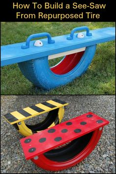 Keep The Kids Entertained With This DIY Tire Seesaw!