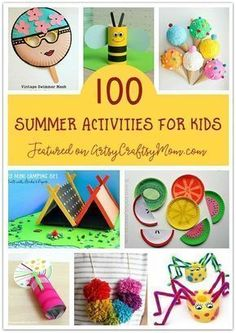 An epic list of 100 summer activities for kids! Great for for encouraging creative play!