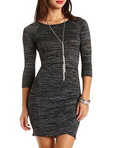 Ruched Bodycon Tulip Dress: Charlotte Russe