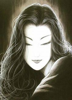 Illustration by Ichiro Tsuruta - Really Beautiful Amakusa, Kumamoto, Graphic Design Illustration, Illustration Art, Illustrations, Japanese Prints, Japanese Art, Estilo Art Deco, Japanese Painting