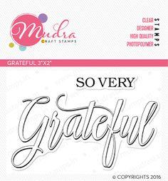 Grateful 3x2 Stamp Set Mudra Craft Stamps