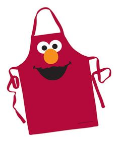 Wear this adorable red Elmo apron while making cookies for Cookie Monster! He'll be sure to gobble them up.