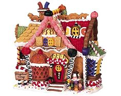 Lemax Sugar N' Spice Village Collection Gingerbread Cottage Disney Christmas Village, Christmas Village Decorations, Christmas Village Display, Christmas Town, Christmas Villages, Blue Christmas, Christmas Candy, Xmas, Gingerbread Village