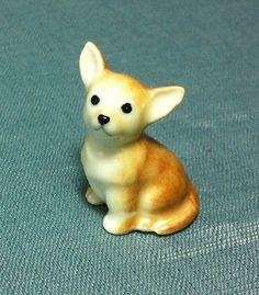 Miniature Ceramic Dog Chihuahua Animal Cute by thaicraftvillage, $8.00