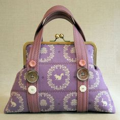 Quilted Frame Purse  Violet Woodland Cameo  by IVANandLUCY on Etsy