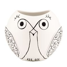 Add charming design to any home with this woodland park owl vase from kate spade new york. This playful vase looks wonderful both full with flowers and as a decorative item. Made of earthenware, it...