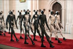 """Juxtapoz Magazine - Jane Alexander """"Surveys (from the Cape of Good Hope)"""" @ The Cathedral of St. John the Divine, NYC Contemporary African Art, South African Artists, Digital Museum, Weird Dreams, Pop Surrealism, Art Fair, Art And Architecture, Installation Art, Sculpture Art"""