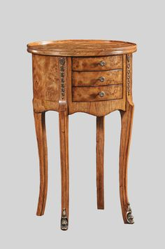 This traditionally made Walnut accent table would look fantastic in almost any room of the home. Walnut Bedroom Furniture, Barrel Furniture, Antique Furniture, Oval Table, Small Drawers, Walnut Veneer, End Tables, Filing Cabinet, The Hamptons