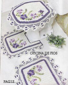 Buy Yarn To DIY http://www.aliexpress.com/store/1687168  Crochet: BATH MAT AND TOILET