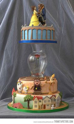 Amazing Beauty and the Beast cake - I want to be able to make this!