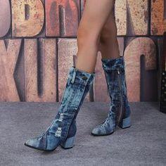 Yivette Botas Black Round Toe Chunky Heel Vintage Botas – yivette Chunky Heels, Botas Casual, Booty, Fall, Toe, Vintage, Black, Fashion, Shopping