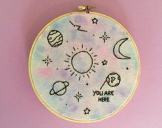 planet embroidery – Etsy