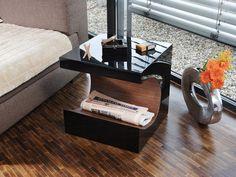 veneer, gloss black, end table, furniture, decorating, modern