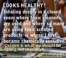 Breathe clean oxygen, not chemicals