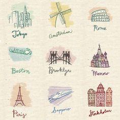 little city illustrations