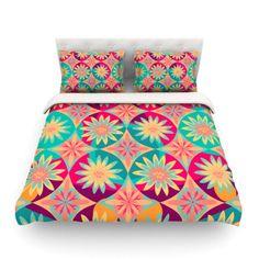 Kess InHouse Vasare NAR Pastel Futuristic Lavender Multicolor Illustration Round Beach Towel Blanket