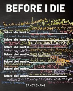 Before I die - Candy Chang
