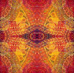 Reverie in Orange fabric by loriwierdesigns on Spoonflower - custom fabric