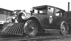 Blast from the Past: Railroad Track Inspection Cars - might be a mid-1920's Buick or a Star