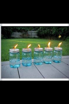 Tiki mason jar lights