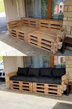 Diy Couch, Diy Furniture Couch, Diy Furniture Plans, Furniture Projects, Living Room Furniture, Furniture Layout, Furniture Design, Furniture Makeover, Cheap Furniture