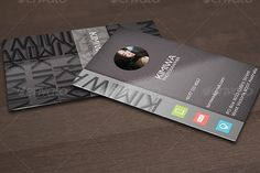 Premium elegant signature business card template with photo and glossy effect, designed by kimiwa.