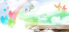 Pintar desenho de balão de ar Quente, Cartoon, Balão De Ar Quente, Pintura, Imagem de fundo